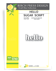 Birch Press - Cutting Die - Hello Sugar Script