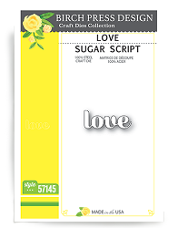 Birch Press - Cutting Die - Love Sugar Script