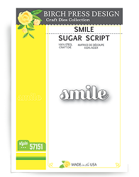 Birch Press - Cutting Die - Smile Sugar Script