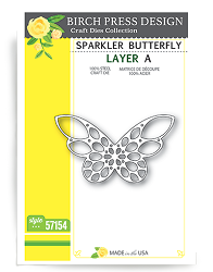 Birch Press - Cutting Die - Sparkler Butterfly Layer A