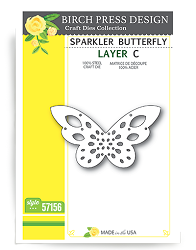 Birch Press - Cutting Die - Sparkler Butterfly Layer C