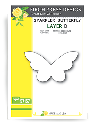 Birch Press - Cutting Die - Sparkler Butterfly Layer D