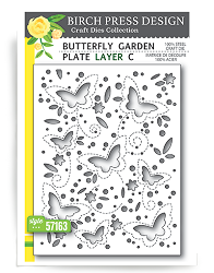 Birch Press - Cutting Die - Butterfly Garden Layer C
