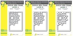 Birch Press - Cutting Die - Dahlia Mini Frame Layer Set