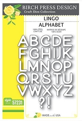 Birch Press - Cutting Die - Lingo Alphabet