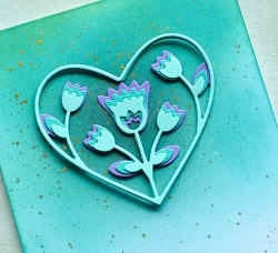 Birch Press - Cutting Die - Folk Art Heart Layer Set