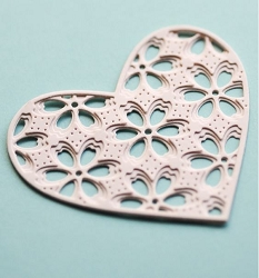 Birch Press - Cutting Die - Flora Heart Layer Set