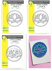 Birch Press - Cutting Die - Lotus Flower Layer Set