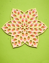 Birch Press - Cutting Die - Floral Star Layer Set