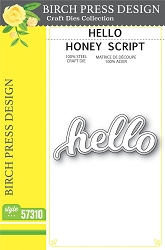 Birch Press - Cutting Die - Hello Honey Script