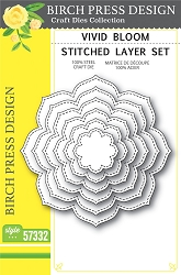 Birch Press - Cutting Die - Vivid Bloom Stitched Layer Set