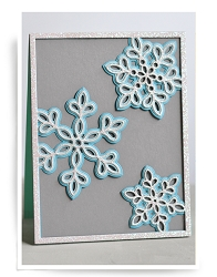 Birch Press - Cutting Die - Shimmer Snowflake Frame Layer Set (3 dies)