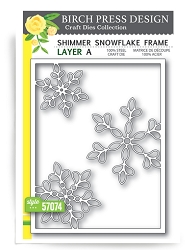 Birch Press - Cutting Die - Shimmer Snowflake Frame Layer A