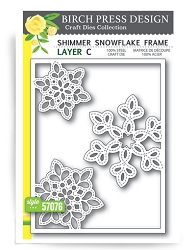 Birch Press - Cutting Die - Shimmer Snowflake Frame Layer C