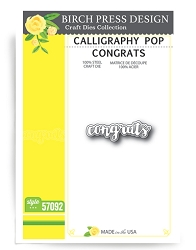 Birch Press - Cutting Die - Calligraphy Pop Congrats