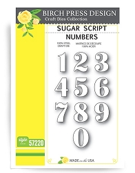 Birch Press - Cutting Die - Sugar Script Number