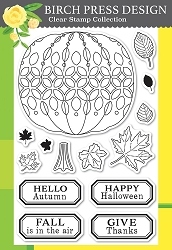 Birch Press - Clear Stamp - Pumpkin Lacework
