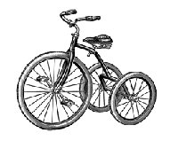 B-Line Designs - Cling Stamp - Tricycle