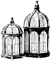 B-Line Designs - Cling Stamp - Gazebo Bird Cage