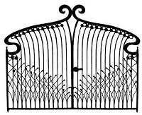 B-Line Designs - Cling Stamp - Deco Gate