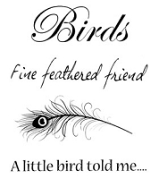 B-Line Designs - Cling Stamp - Feathered Friend