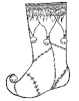 B-Line Designs - Cling Stamp - Stocking lg.