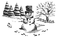 B-Line Designs - Cling Stamp - Snow Day