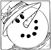 B-Line Designs - Cling Stamp - Smiling Snowman