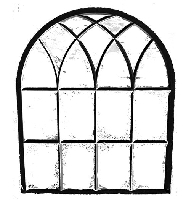 B-Line Designs - Cling Stamp - Window Arch