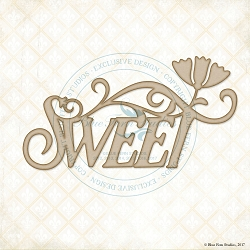 Blue Fern Studios - Chipboard - Sweet