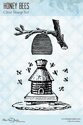 Blue Fern Studios - Clear Stamp - Honey Bees