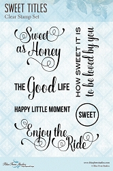 Blue Fern Studios - Clear Stamp - Sweet Titles