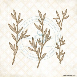 Blue Fern Studios - Chipboard - Leafy Twigs