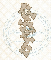 Blue Fern Studios - Chipboard - Card Suit Medley
