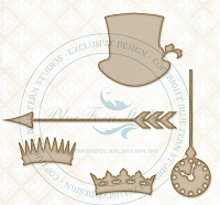 Blue Fern Studios - Chipboard - Love Story Accents