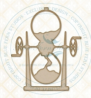 Blue Fern Studios - Chipboard - Hourglass
