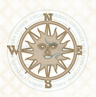 Blue Fern Studios - Chipboard - Sun Compass