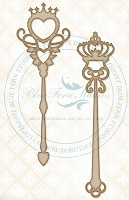 Blue Fern Studios - Chipboard - Royal Wands