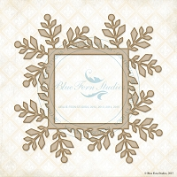 Blue Fern Studios - Chipboard - Winter Flake Frame