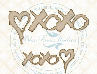 Blue Fern Studios - Chipboard - XOXO