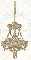 Blue Fern Studios - Chipboard - Deja Vu Chandelier Chippies
