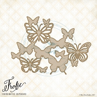 Blue Fern Studios - Chipboard - Butterfly Friends