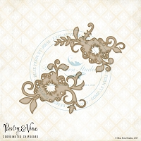 Blue Fern Studios - Chipboard - Paisley & Vine Flowers