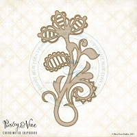 Blue Fern Studios - Chipboard - Paisley & Vine Flourish