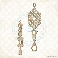 Blue Fern Studios - Chipboard - Jasmine Pendants