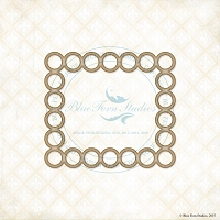 Blue Fern Studios - Chipboard - Rings Frame