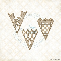 Blue Fern Studios - Chipboard - Peek-A-Boos