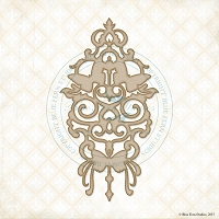 Blue Fern Studios - Chipboard - Butterfly Damask