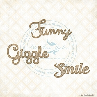 Blue Fern Studios - Chipboard - Funny, Giggle, Smile