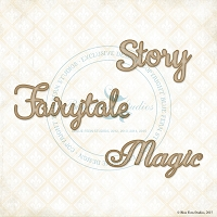 Blue Fern Studios - Chipboard - Story, Fairytale, Magic